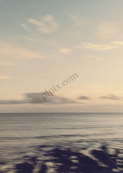 Blur of sea with clouds stock image - Interior, Architectural & Advertising Photographer with a library of house features for publishers